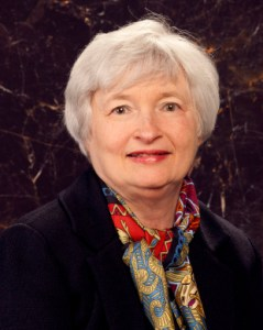 Janet Yellen becomes the first woman to chair the Federal Reserve