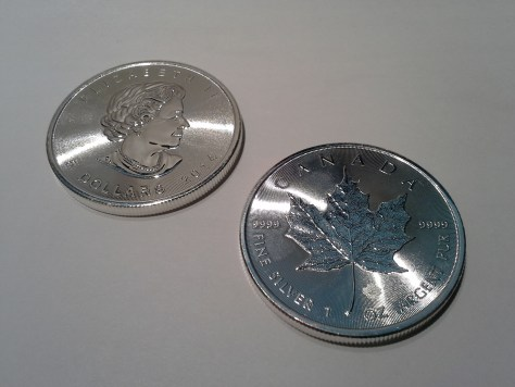 2014 Silver Canadian Maple Leaf - Maple Leaf Privy