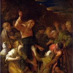 Christ cleansing a leper by Jean-Marie Melchior Doze, 1864. Matthew 8:1-4, Mark 1:40-45 and Luke 5:12-16.