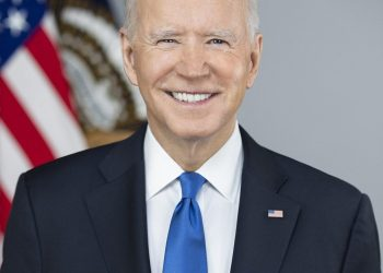 President Joe Biden poses for his official portrait Wednesday, March 3, 2021, in the Library of the White House. (Official White House Photo by Adam Schultz)
