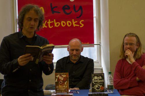 Jasper Bark, David Moody and Joseph D'Lacey (photo by Jim Mcleod)