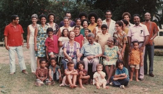 David Mordecai's family in 1973