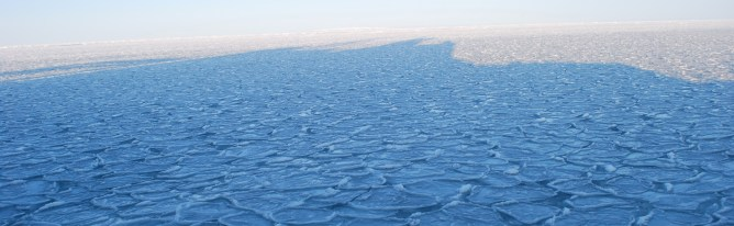 Pancake sea-ice in the Arctic Ocean