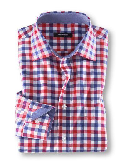 Camisa casual de algodón de cuadros