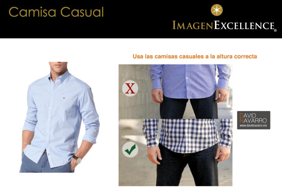 Largo correcto camisas casuales hombres