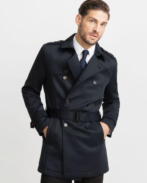 Abrigo Impermeable corto Hombre