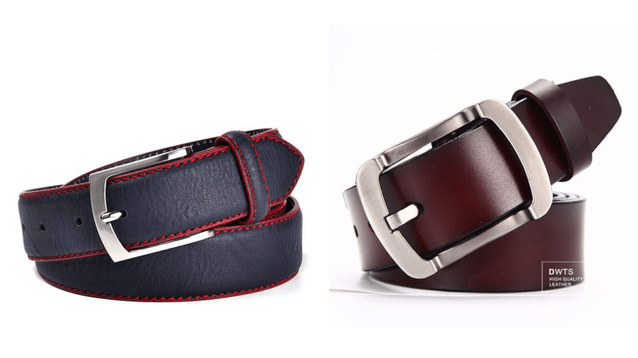 Cinturon informal de piel