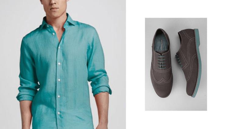 zapatos grises gamuza agujetas verdes