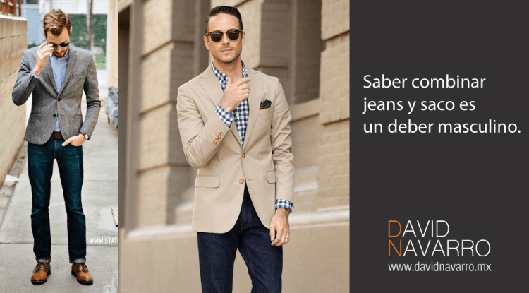 Como combinar jeans y saco