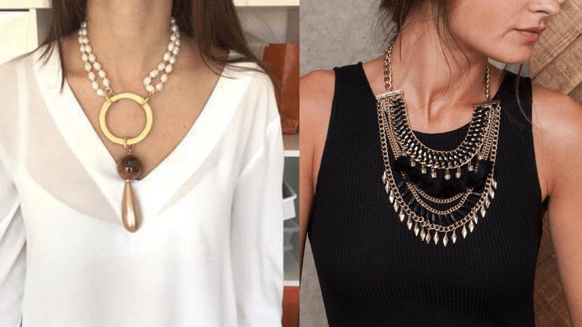 Como usar collares y aretes