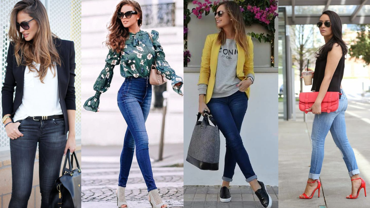 Mujer, cómo vestir jeans con estilo. 1