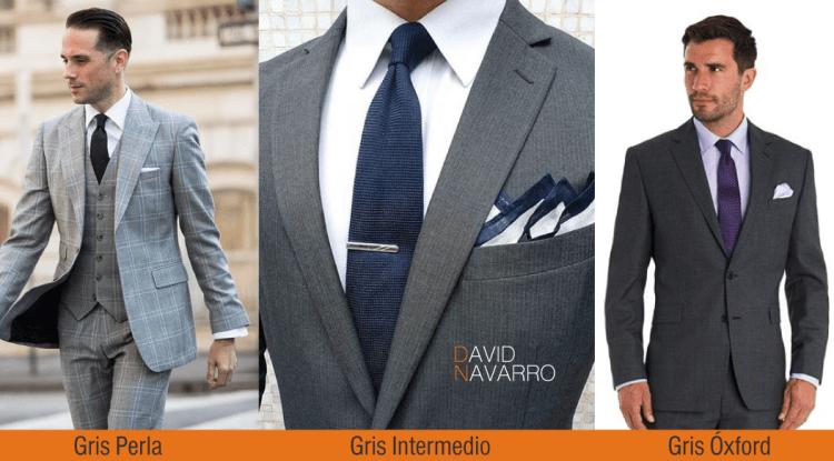 Tonos de trajes grises