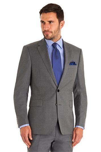 Combinación elegante traje gris
