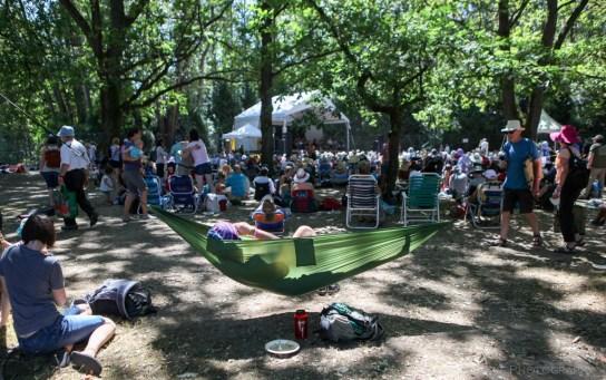 Vancouver Folk Music Festival - hammock for live music