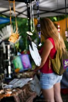 Vancouver Folk Music Festival - feathers, leathers and beads