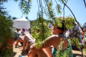 Vancouver Folk Music Festival - seeking shade
