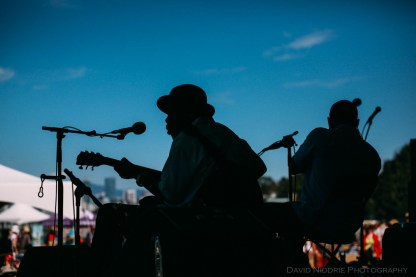 Vancouver Folk Music Festival - Blues in silhouette