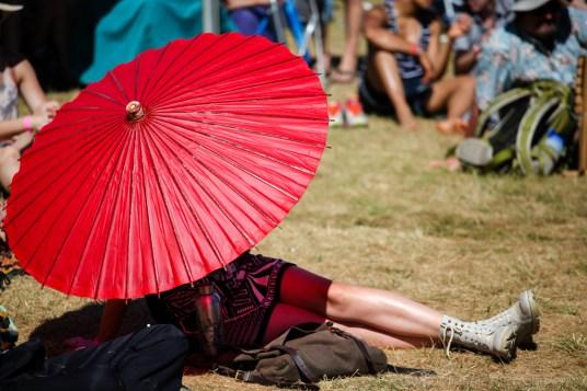 Vancouver Folk Music Festival - Red umbrella