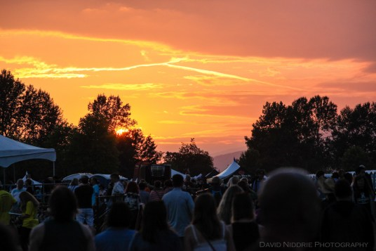 Saturday sundown at the Vancouver Folk Music Fesival.