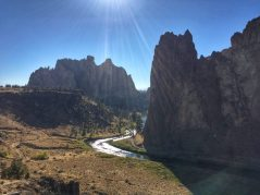View of Smith Rock State Park at the end of our hike