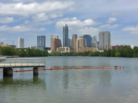 Austin skyline from the boardwalk