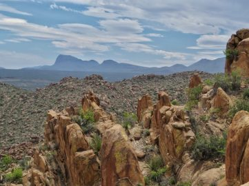 View of Chisos Mountains from Grapevine Hills