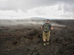 Hiking on a vast lava field to Makaopuhi Crater was different from anything we had done.