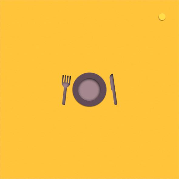 Comida, plato, felicidad