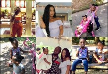 Davido Baby Mama unite with babies mandy hailey sophia imade