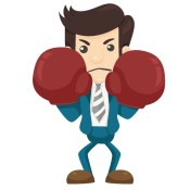 fighting business man
