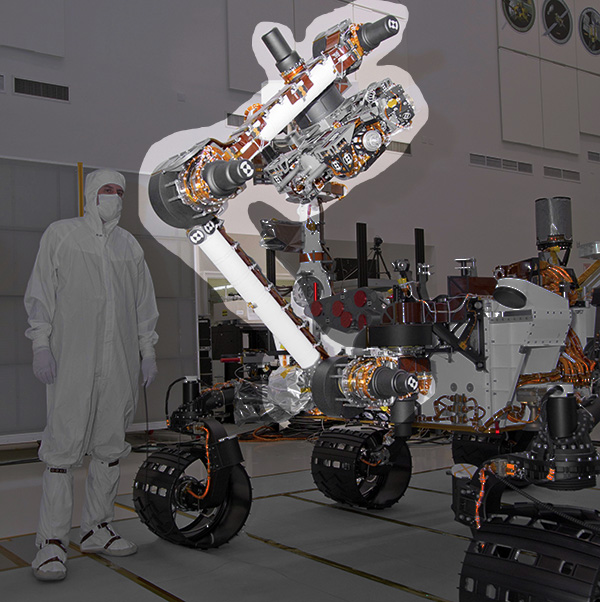 Curiosity-MSL-arm