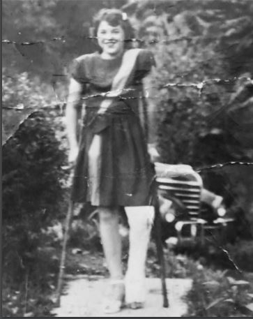 Tony Guarnaccia's Mom with Polio at 14 years old