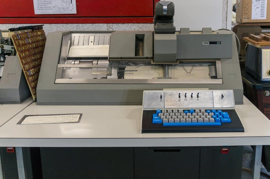 Old fashioned IBM Card Punch Machine