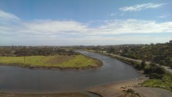 The Onkaparinga River. This curve in the river is known as 'Perry's Bend'