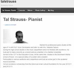 Web del alumno israelí Tal Strauss