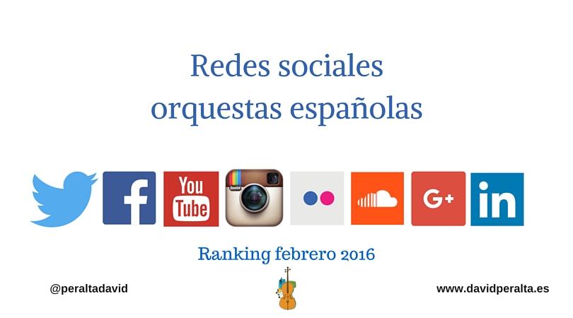 Redes sociales orquestas españolas