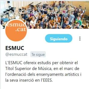 ESMUC en Twitter