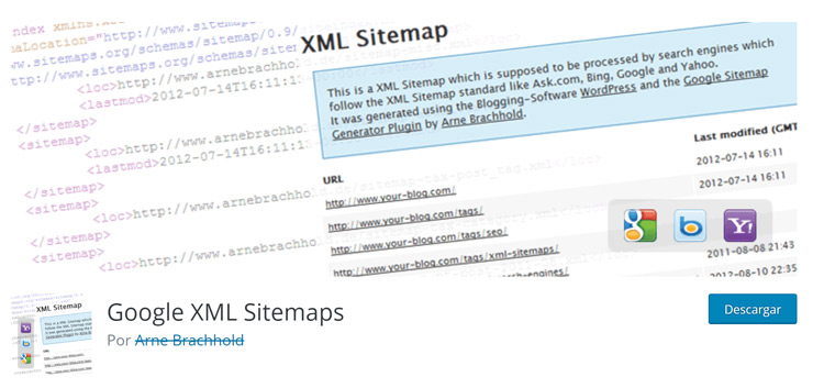 Plugin google xml site map