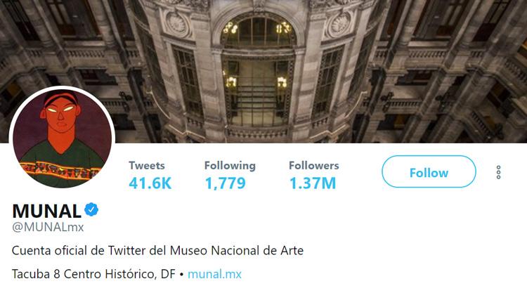 Cuenta Twitter MUNAL México
