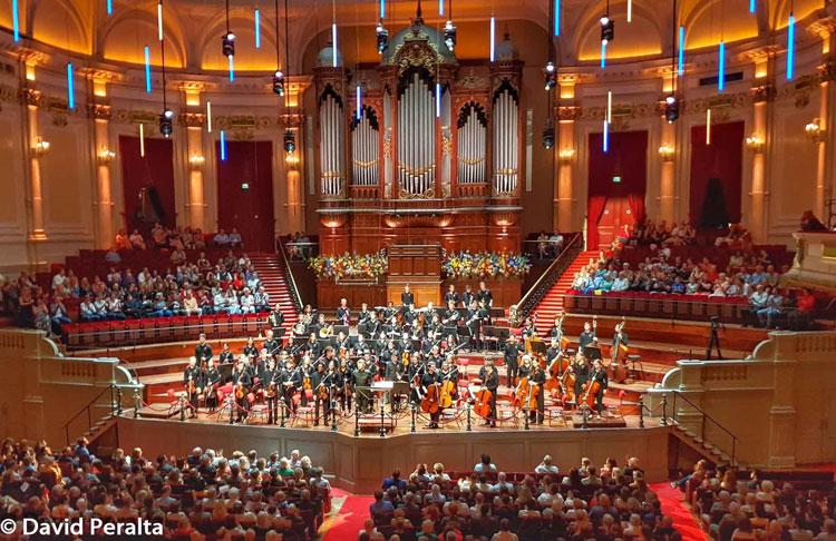Concierto en Amsterdam del la Joven Orquesta de la Orquesta del Concertegebouw de Amsterdam