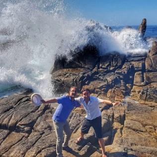 David Peralta Alegre con José Antonio Novo en el mar verano 2019