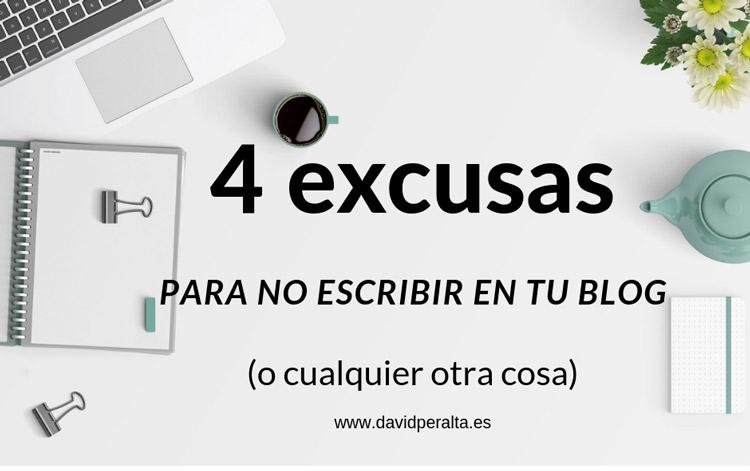 excusas no escribir en tu blog