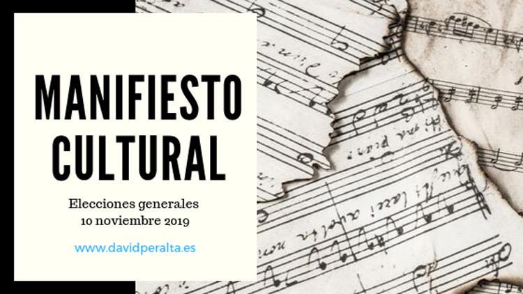 Manifiesto por al cultura elecciones 10 de noviembre 2019