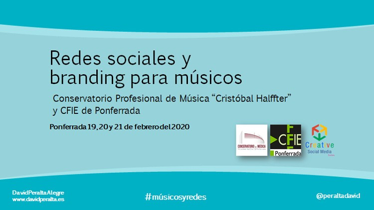 curso branding para musicos conservatorio cristobal halffter de ponferrada por David Peralta Alegre