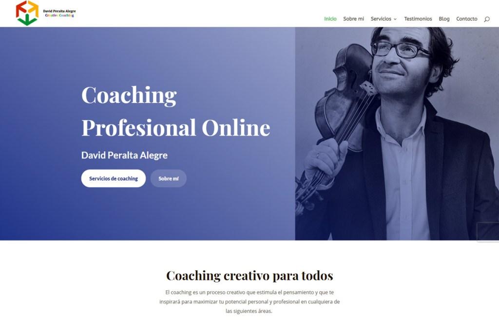 Website coaching profesional online creativo David Peralta
