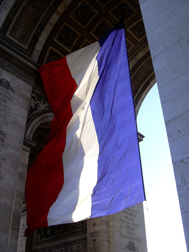 french flag at the arc de triomphe david in france