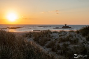 Sunset at St. Ouens bay, Jersey, Channel Islands
