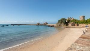 Summer day, La Rocque Beach, Jersey, Channel Islands
