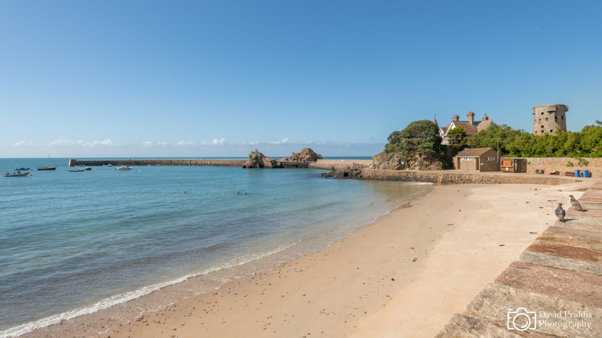 Summer day, La Rocque Beach, Jersey, Channel Islands