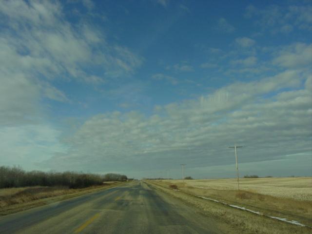 Saskatchewan, Canada.  Poplulation: road